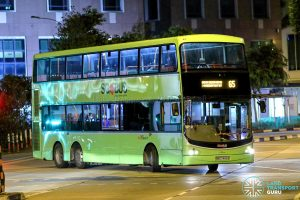 Bus 65 - SBS Transit Volvo B9TL CDGE (SBS7455B)