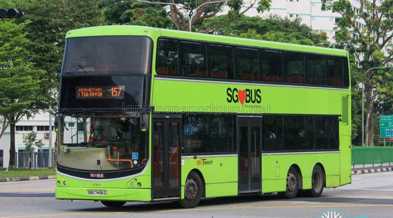 Bus 157 - SBS Transit Volvo B9TL CDGE (SBS7456Z)