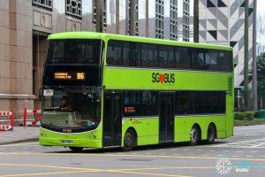 Bus 186 - SBS Transit Volvo B9TL CDGE (SBS7491X)