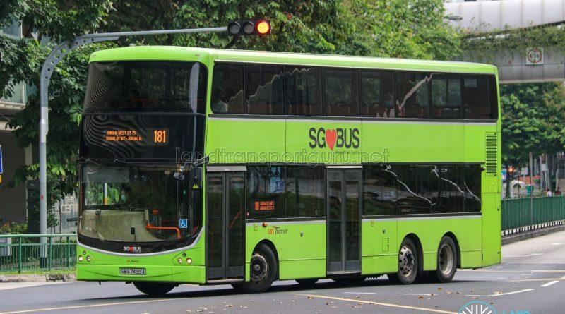 Bus 181 - SBS Transit Volvo B9TL CDGE (SBS7499A)