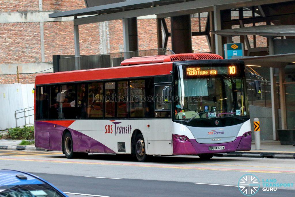 Bus 10 - SBS Transit Scania K230UB Euro IV (SBS8079Y)