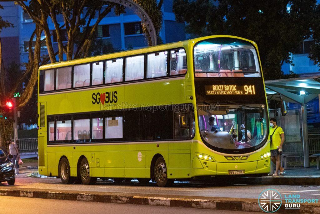 Bus 941 - Tower Transit Volvo B9TL Wright (SBS3398J)