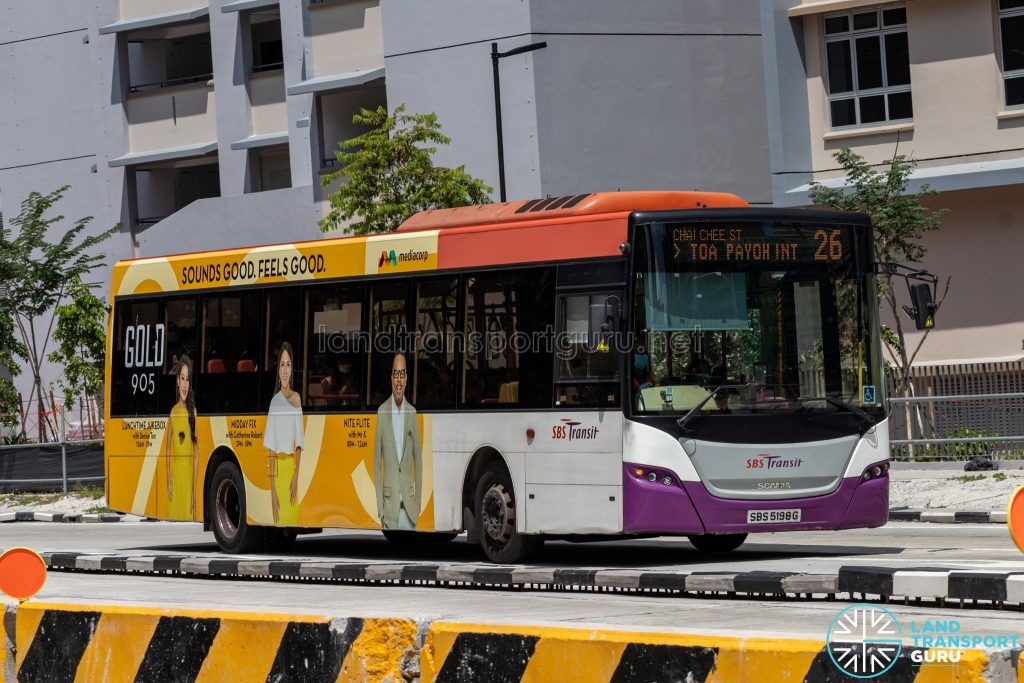 Bus 26 - SBS Transit Scania K230UB (SBS5198G)