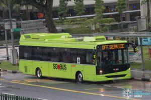 Off Service - SMRT Buses Linkker LM312 (SG3076A)