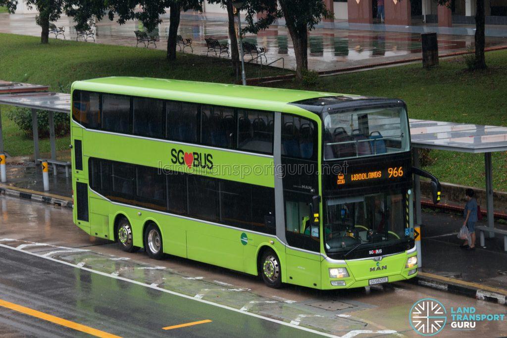 Bus 966 - Tower Transit MAN A95 Euro 6 (SG5820E)