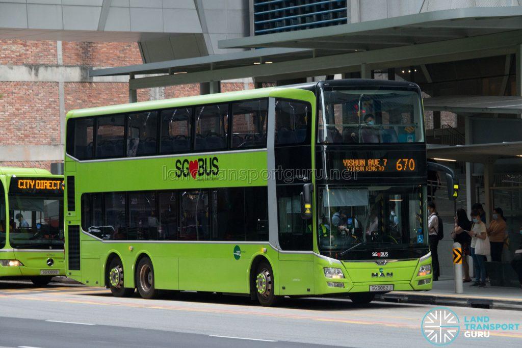City Direct 670: Tower Transit MAN A95 (SG5862J)